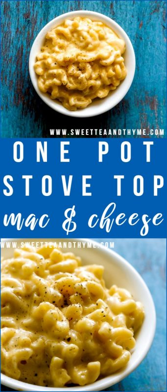 Throw away the box and make this creamy, cheesy, easy one-pot stove-top mac and cheese from scratch! Made just as fast as storebought but tastes a million times better, is easily customizable, and is loved by kids and adults alike.