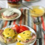 Classic Eggs Benedict is a true brunch delight! The dreamy, rich Hollandaise sauce over the crisp English muffin and creamy poached egg is everything!