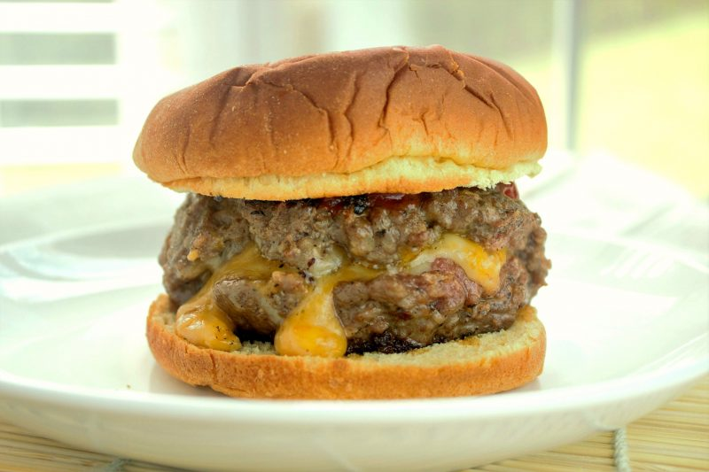 A Midwestern favorite. the Juicy Lucy burger's patty has a secret: molten cheese inside!
