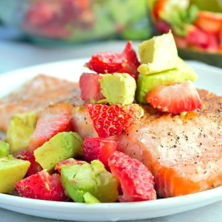 Pan Seared Salmon with Strawberry Avocado Salsa