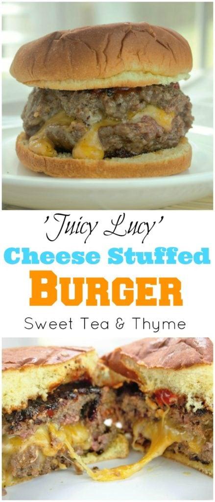 Juicy Lucy Burger - Sweet Tea & Thyme