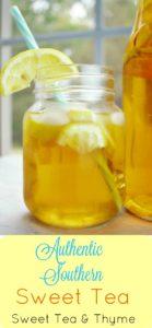 Southern Sweet Tea Recipe - Sweet Tea & Thyme