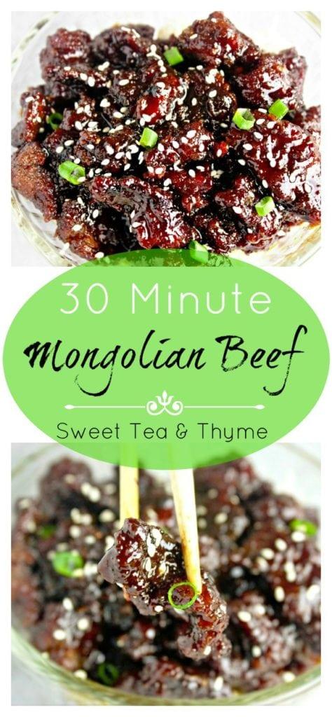 Crispy Mongolian Beef - Sweet Tea & Thyme