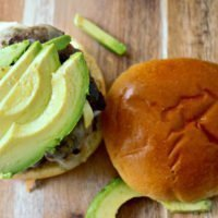 Avocado and Swiss Steamed Burgers