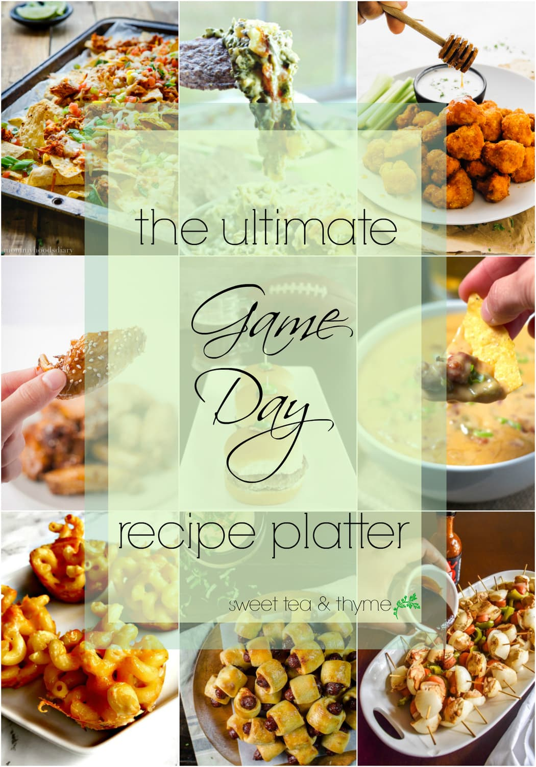 The Ultimate Game Day Platter -Recipe Round Up!