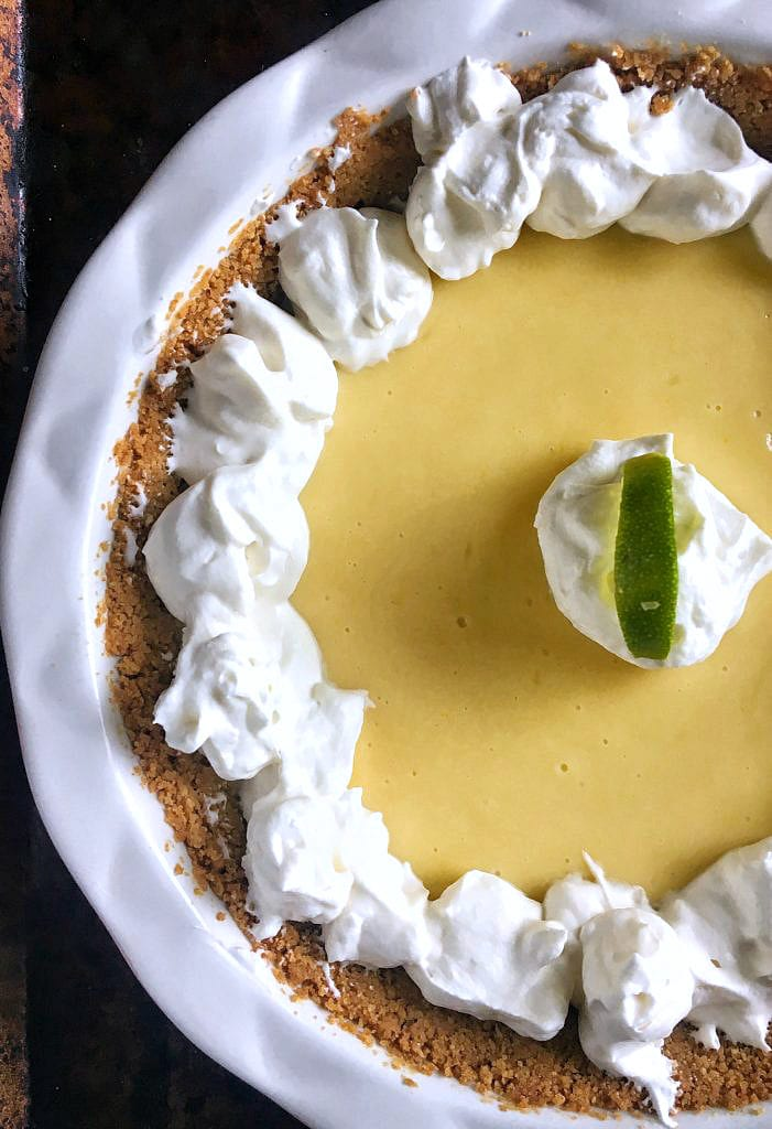 This is the perfect key lime pie! Tart and sweet, smooth and creamy, it brings me back to Key West every time.