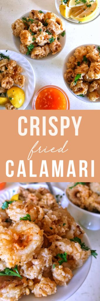 Fresh calamari rings are tenderized in buttermilk, seasoned with garlic and paprika, and fried in crispy panko breadcrumbs. Fried calamari done right is full of flavor and irresistible!