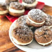 Gingerbread Whoopie Pies with Marshmallow-Cream Cheese Filling
