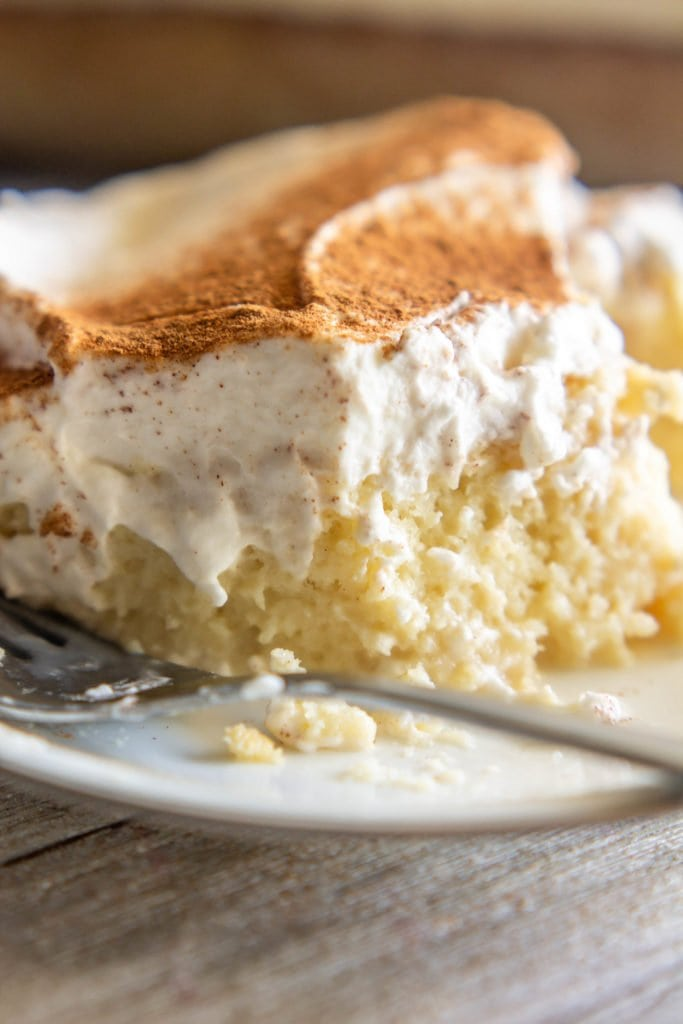 Tres Leches cake is the perfect summer treat: sweet, refreshing, melt-in-your-mouth deliciousness, topped with sweet whipped cream and fresh fruit.