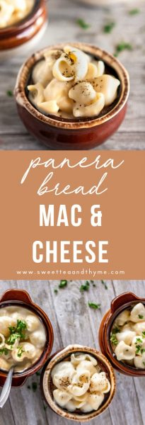 Creamy, rich, super cheesy and flavorful white cheddar mac and cheese just like Panera Bread's popular side dish! This mac and cheese dish is from-scratch and made in less than 20 minutes.