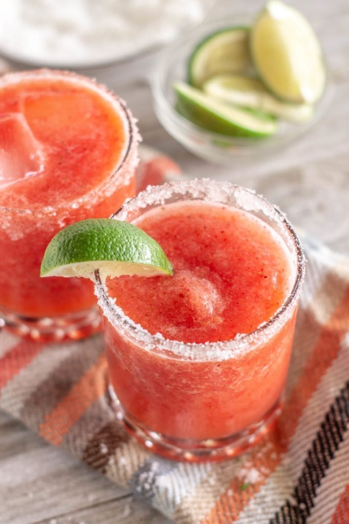 This strawberry margarita isn't your average margarita, it basically personifies South Florida with plenty of good tequila and tropical fruits.