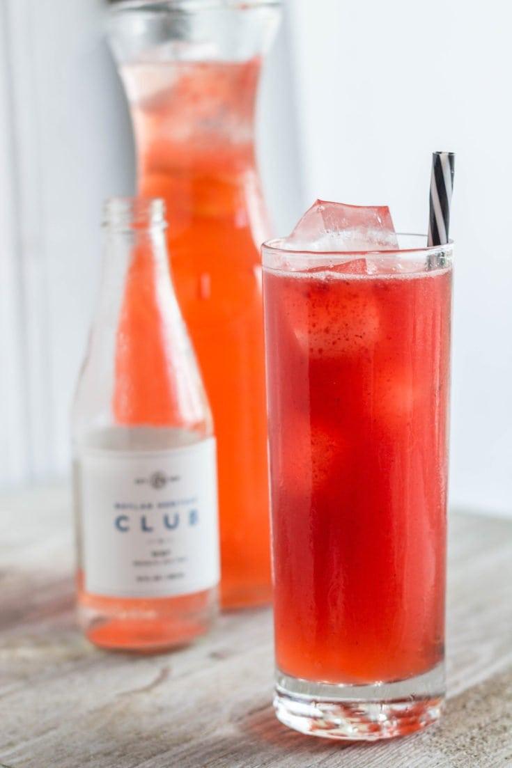 Sparkling Ginger Strawberry Lemonade