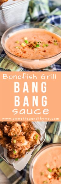 Bang Bang Sauce is sweet, spicy, creamy, and a perfect sauce for seafood, meat, and vegetables. It's such a delicious and easy sauce to drizzle and dip for all kinds of dishes. This Bang Bang Sauce may be known for the Bonefish Grill namesake appetizer, but this homemade version is even better!