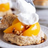 Spiced Peach Shortcake with Candied Walnuts Recipe