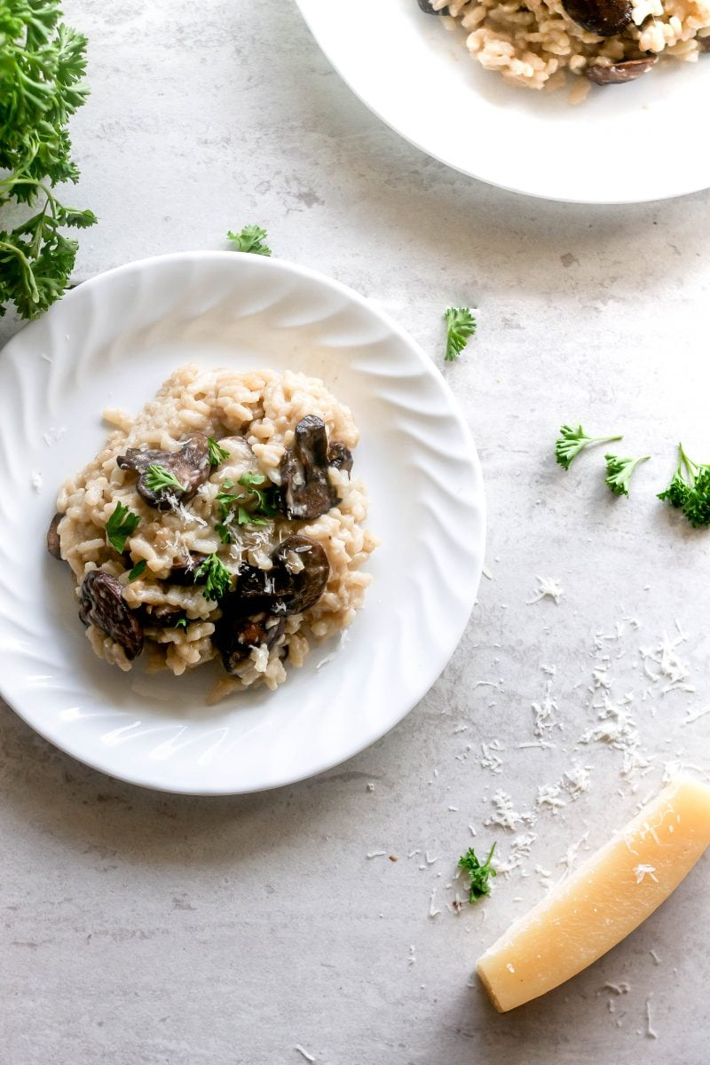 Easy Mushroom Risotto Recipe Sweet Tea Thyme