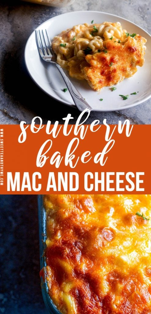 Southern baked macaroni and cheese, also called soul food mac and cheese, is the ultimate in comfort food. Creamy, rich, ooey-gooey, super cheesy, with those crispy browned cheese edges...no one can resist perfectly baked mac and cheese.
