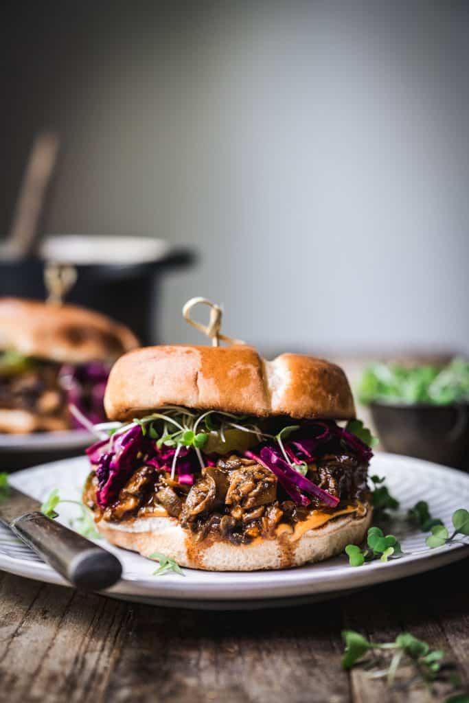 Pulled Mushroom Sandwich (Vegan)