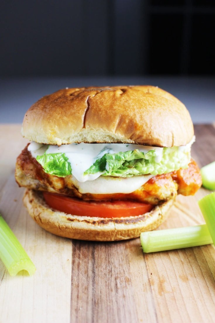 Buffalo Chicken Breast Burgers