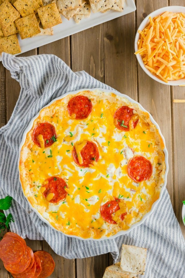 Pepperoni Pizza Dip {Gluten-free}