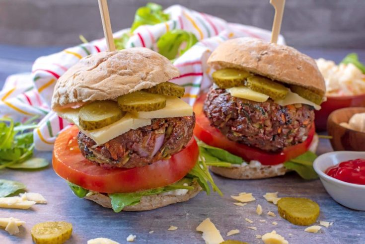 Hidden Vegetable Beef Burgers