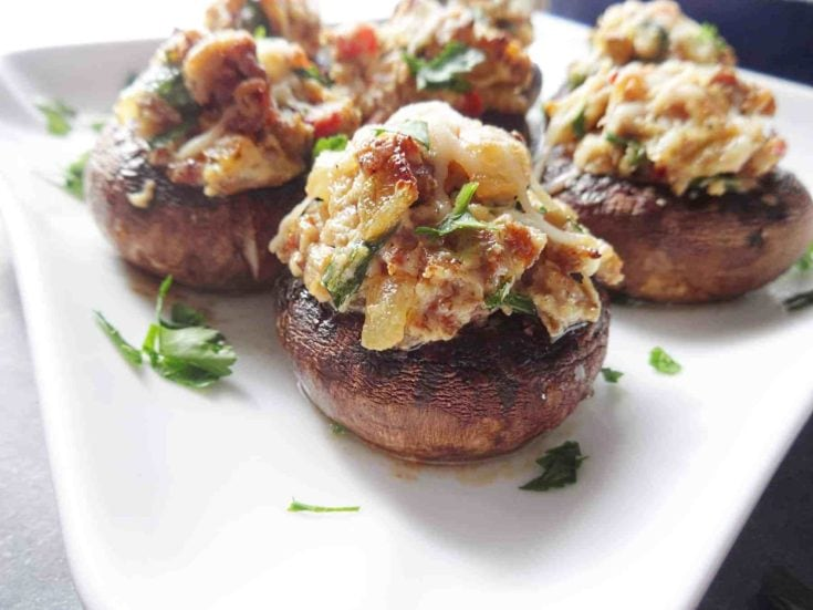 Chorizo Stuffed Mushrooms Appetizer