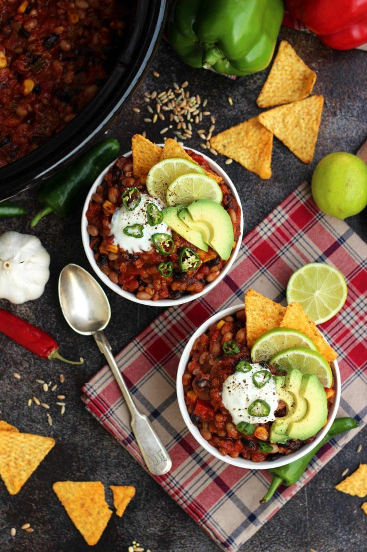 The Best Slow Cooker Vegan Chili