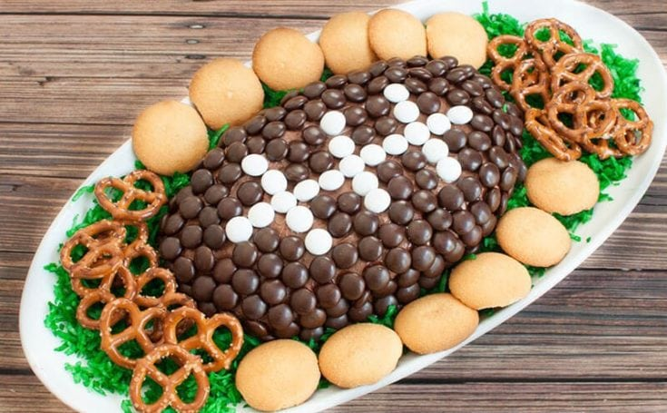 Chocolate Dessert Cheese Ball Football Dip