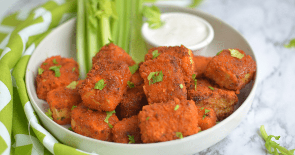 Air Fryer Crispy Tofu Buffalo Bites