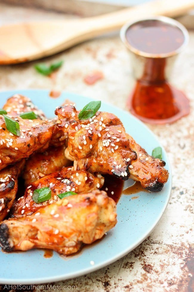 Honey Sriracha Grilled Wings