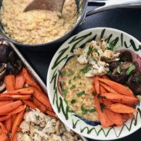 Dijon Lentils with Roasted Veggies