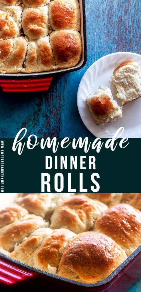 These perfect dinner rolls are soft, buttery, melt-in-your-mouth delicious, and so easy to make! They are perfect for your holiday table, Sunday supper, or any time you're craving fluffy, rich dinner rolls.