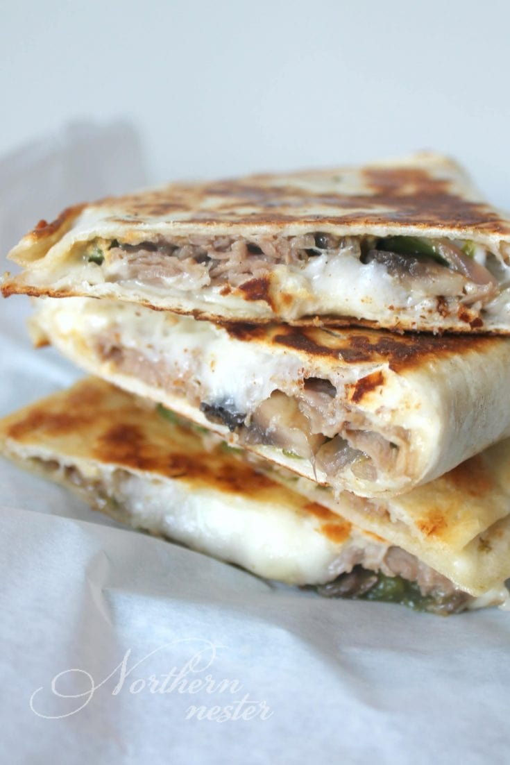 Quick Steak & Cheese Quesadillas