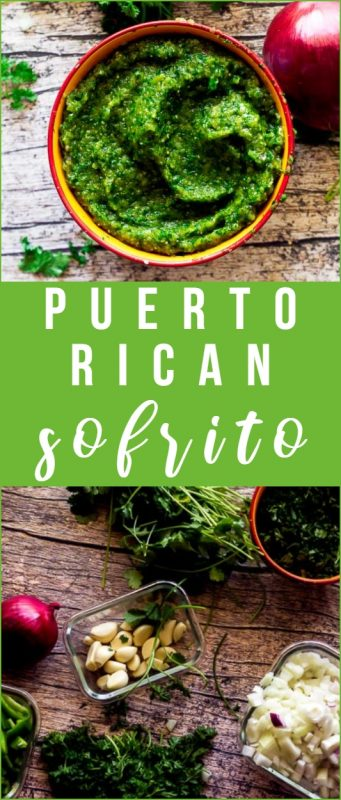 This easy sofrito from scratch is the base of many Hispanic-Caribbean dishes. It's super simple to make and freezes well, ensuring you always have some sofrito to bring Latin flavor to all your dishes!