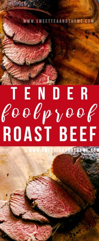 This low and slow method of making roast beef with an affordable eye of round will give you the juiciest and most tender roast that's pink from edge to edge! It's perfect for anything from Sunday roast to holiday meals!