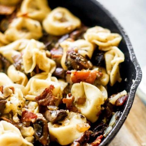 Bacon Mushroom Tortellini