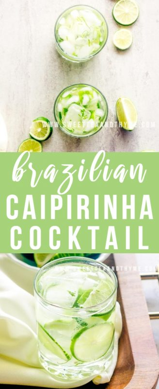 Brazil's national drink, the Caipirinha is a strong drink made from cachaca, muddled limes, and sugar served over ice. A refreshing and delicious cocktail that is perfect for hot summer days and backyard barbecues.