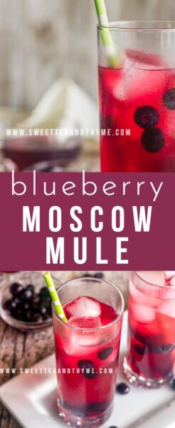 Blueberry Moscow Mules are bubbly, fruity, and super refreshing. This mule recipe is perfect for summer!