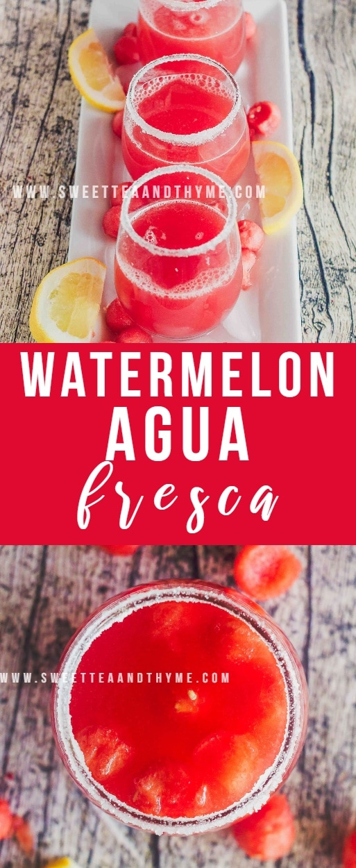 Watermelon agua fresca is a super refreshing and drink made with just 3 ingredients that is absolutely perfect for those hot summer days.