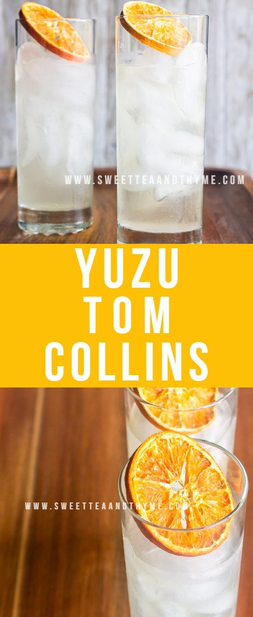 Yuzu Tom Collins is a refreshing and exotic twist on the classic drink. Using the fragrant Asian citrus fruit yuzu instead of lemon makes this Tom Collins unique and perfect for summer.