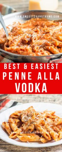 Penne alla Vodka is one of the best tomato-based pasta dishes, this creamy homemade vodka sauce is made in just 15 minutes! Perfect for busy families, this recipe is totally weeknight friendly with little effort needed!